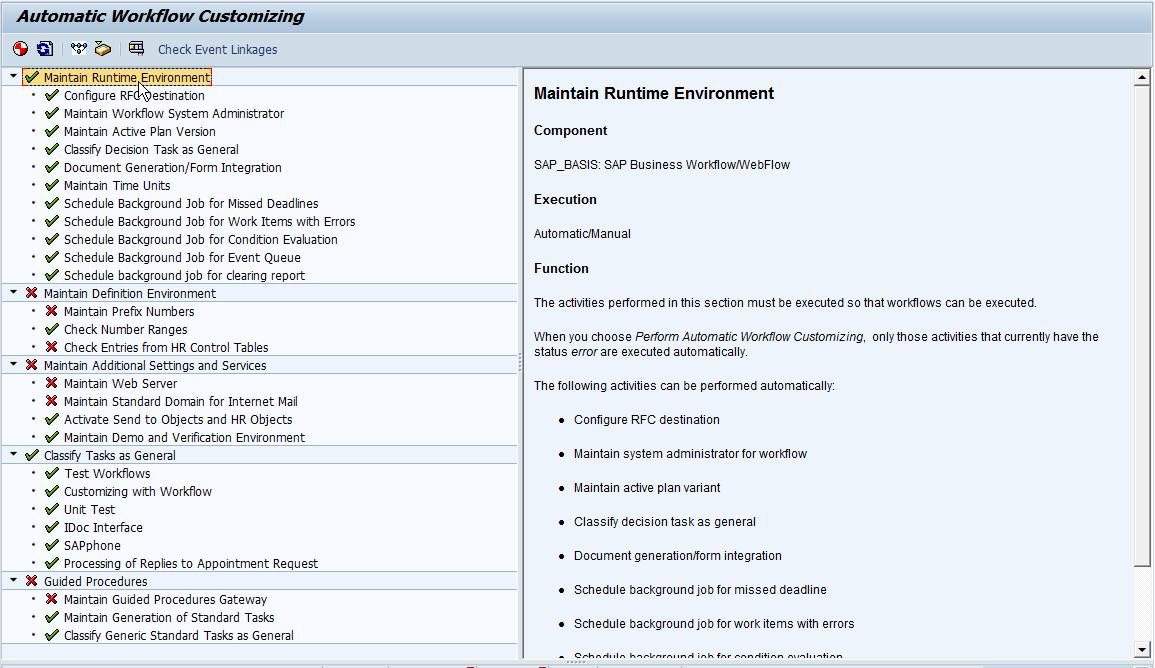 Service Management - Using SAP Workflow - Initial Customizing